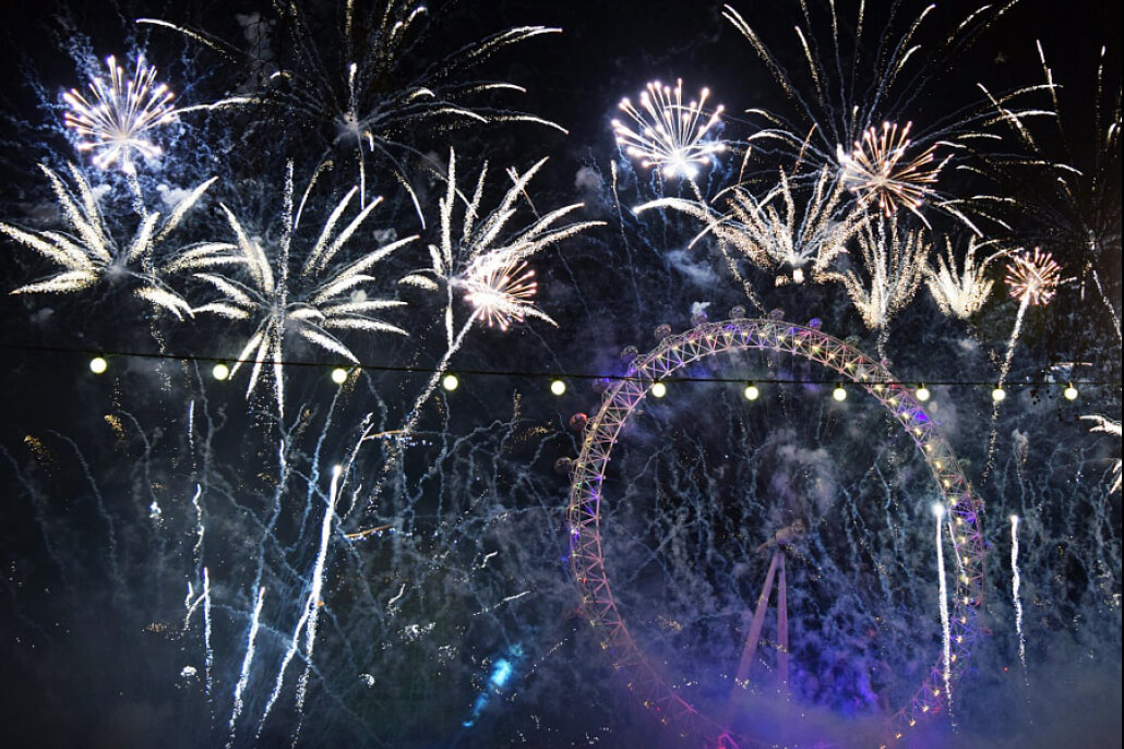 stock photo London New Year Fireworks Happy New Year from 500px!