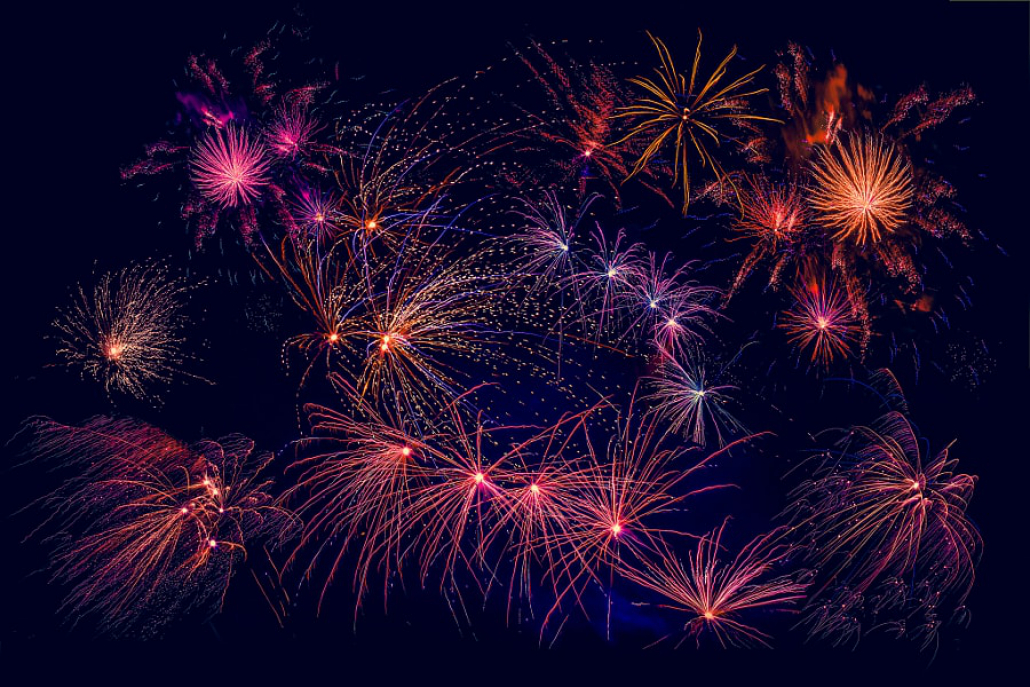 stock photo fireworks in beautiful colors Happy New Year from 500px!