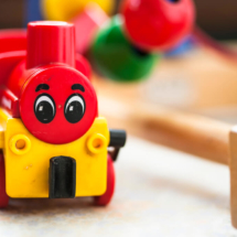 wooden locomotive, wooden educational toys, macro, -5047