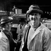 Henri Cartier Bresson GB. London. 1951. Billinsgate fish market. Porters. 215x215 Photos of Henri Cartier Bresson