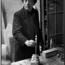 Henri Cartier Bresson Swiss sculptor Alberto GIACOMETTI in his studio. 1945 1946. 215x215 Photos of Henri Cartier Bresson