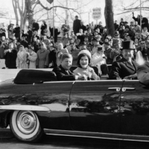 Henri Cartier Bresson USA. Washington D.C. 1961. President John F. Kennedy and wife Jacqueline on Inauguration Day. 215x215 Photos of Henri Cartier Bresson