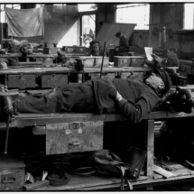Henri Cartier Bresson WEST GERMANY. Bremen. Lunchtime rest in the shipyards. 1962. 215x215 Photos of Henri Cartier Bresson