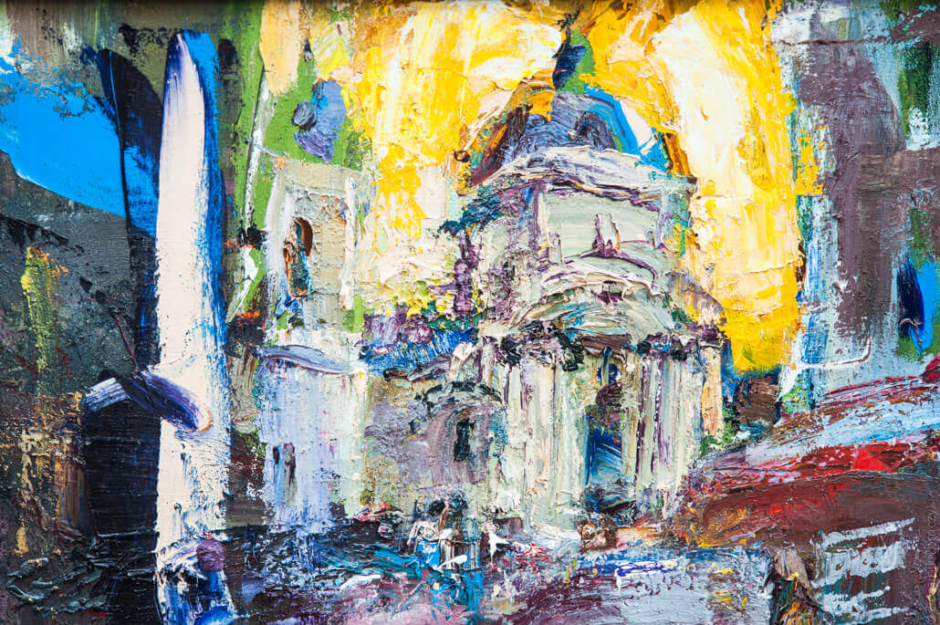 Lviv, beautiful paintings on the market, 5888