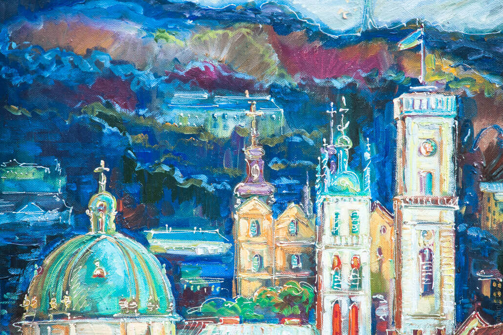 Lviv, beautiful paintings on the market, 5890