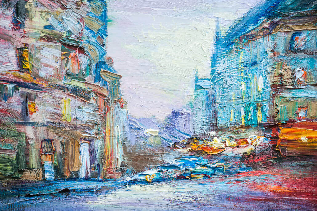 Lviv, beautiful paintings on the market, 5896