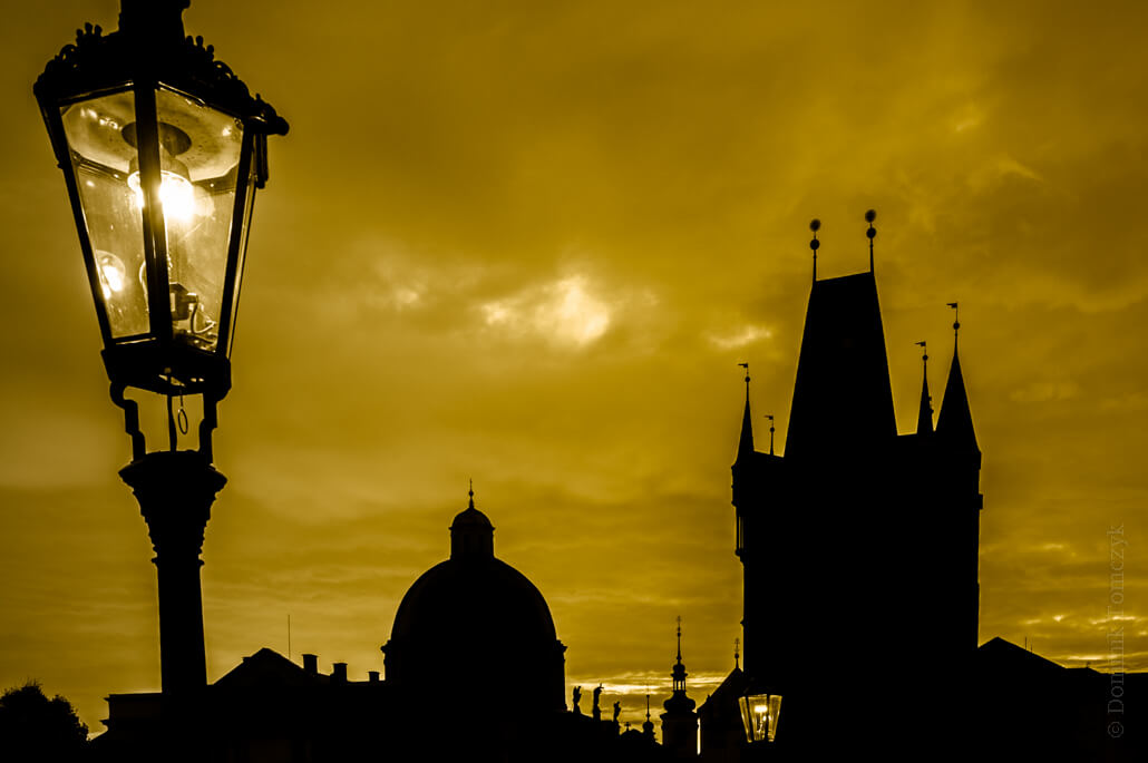 Prague full of shadows and contours